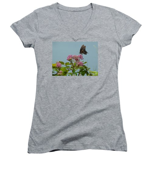 Spicebush Butterfly Women's V-Neck (Athletic Fit)