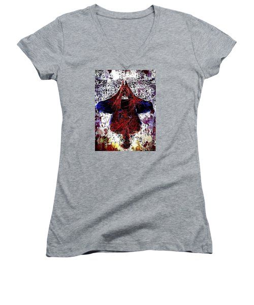 Spiderman Hanging Around Women's V-Neck