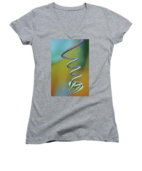 Spiraling Women's V-Neck T-Shirt (Junior Cut) by Debbie Oppermann