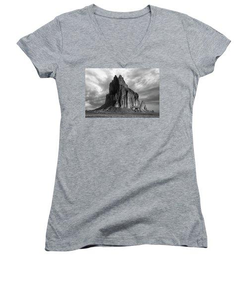 Spire To Elysium Women's V-Neck T-Shirt (Junior Cut) by Jon Glaser