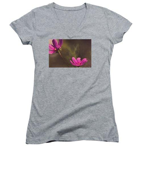 Spirit Among The Flowers Women's V-Neck (Athletic Fit)