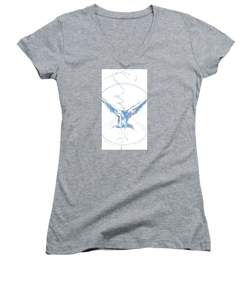 Spirit Animal . Crow Women's V-Neck T-Shirt