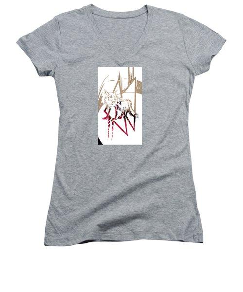 Spirit Animal . Fox Women's V-Neck T-Shirt