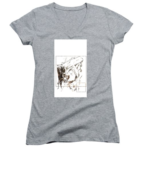 Spirit Animal . Wolf Women's V-Neck