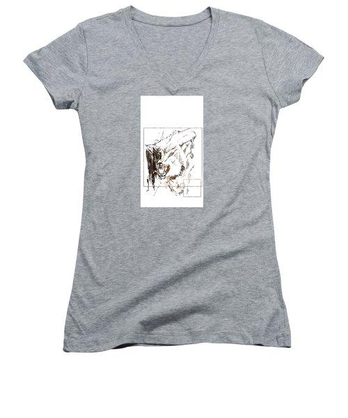 Spirit Animal . Wolf Women's V-Neck T-Shirt