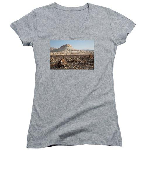 Spirit Of The Desert Women's V-Neck T-Shirt (Junior Cut) by Yoel Koskas