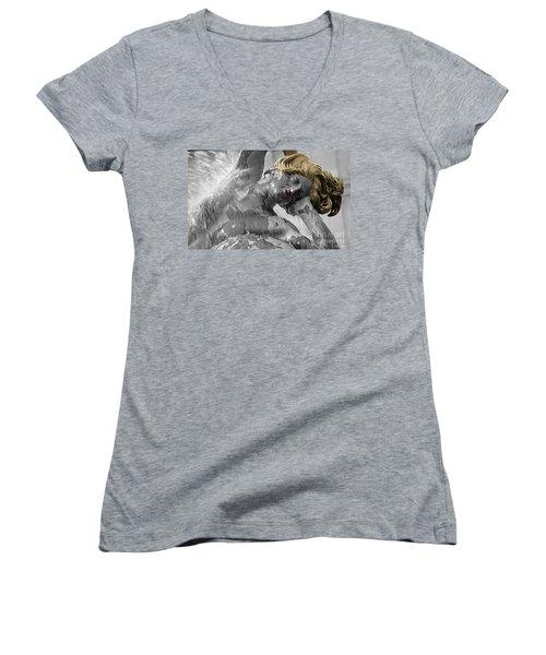 Spirit Of Water Women's V-Neck T-Shirt (Junior Cut) by Lyric Lucas