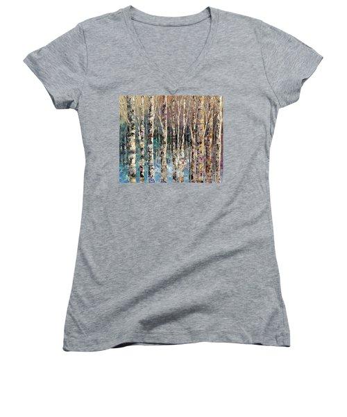 Spirit Of Winter Women's V-Neck T-Shirt