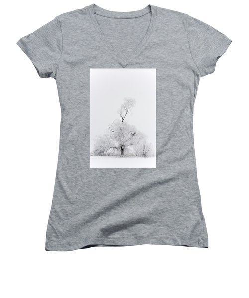 Women's V-Neck T-Shirt (Junior Cut) featuring the photograph Spirit Tree by Dustin LeFevre