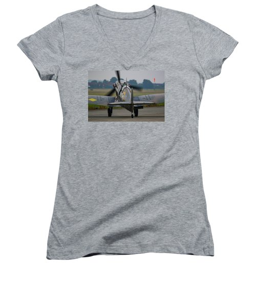 Spitfire Start Up Women's V-Neck T-Shirt