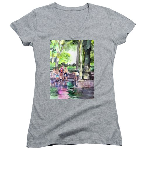 Splash In Battery Park Women's V-Neck