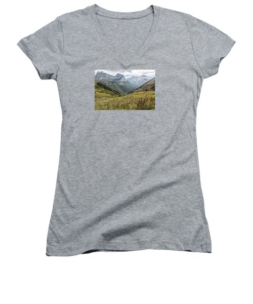 Splendor From Highline Trail - Glacier Women's V-Neck
