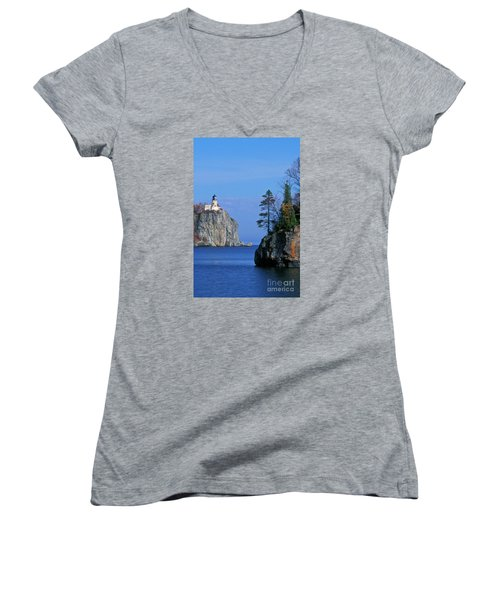 Split Rock Lighthouse - Fs000120 Women's V-Neck T-Shirt