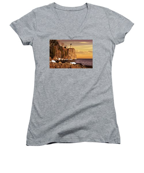 Split Rock Lighthouse Women's V-Neck