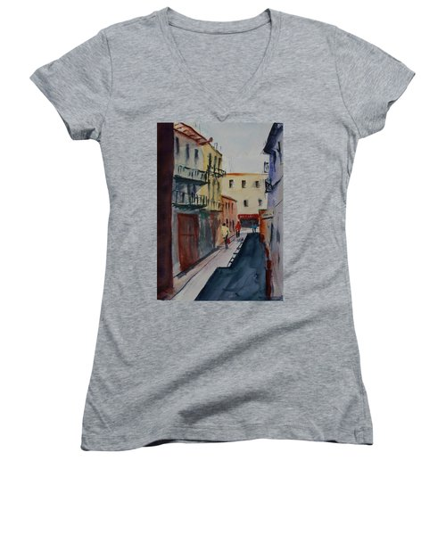 Spofford Street2 Women's V-Neck T-Shirt