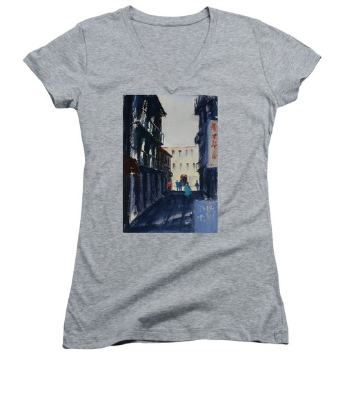 Spofford Street4 Women's V-Neck T-Shirt