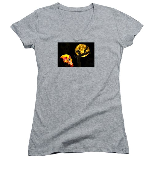 Spooky Night Women's V-Neck (Athletic Fit)