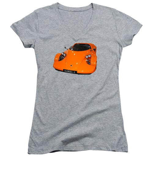 Sports Car Women's V-Neck