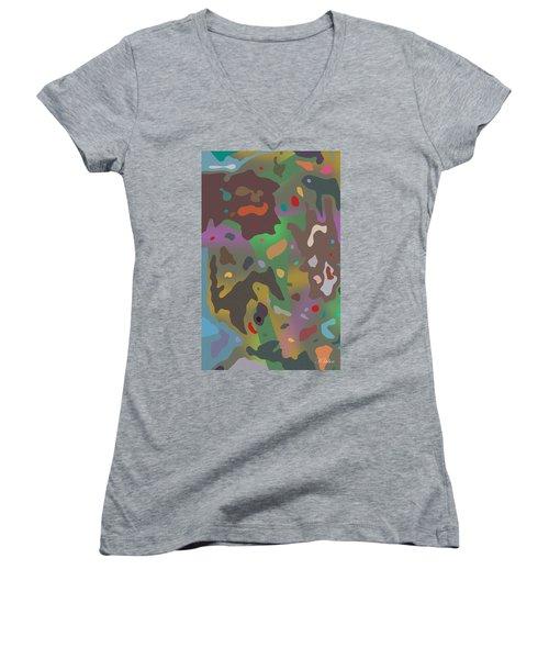 Spotsville Women's V-Neck T-Shirt (Junior Cut) by David Klaboe
