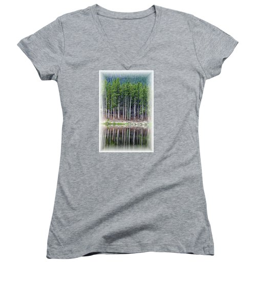Sprague Lake 03 Women's V-Neck T-Shirt
