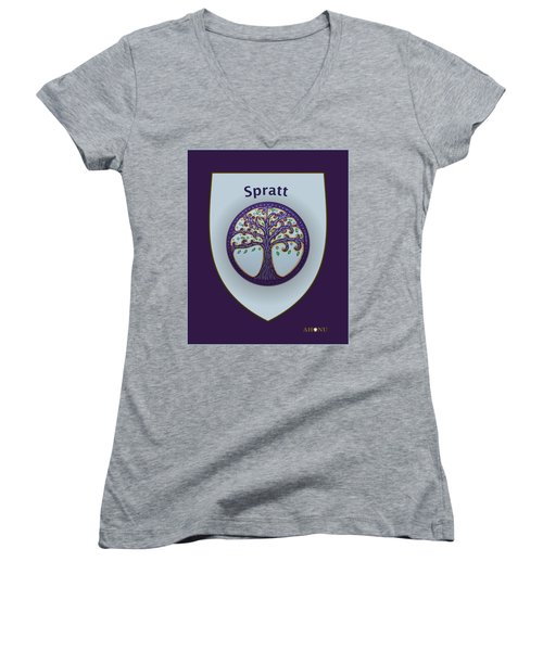 Spratt Family Crest Women's V-Neck T-Shirt
