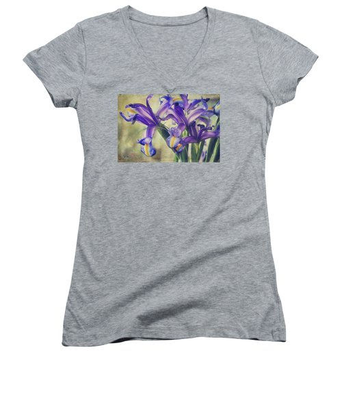Women's V-Neck T-Shirt (Junior Cut) featuring the photograph Spread Love by Laurie Search