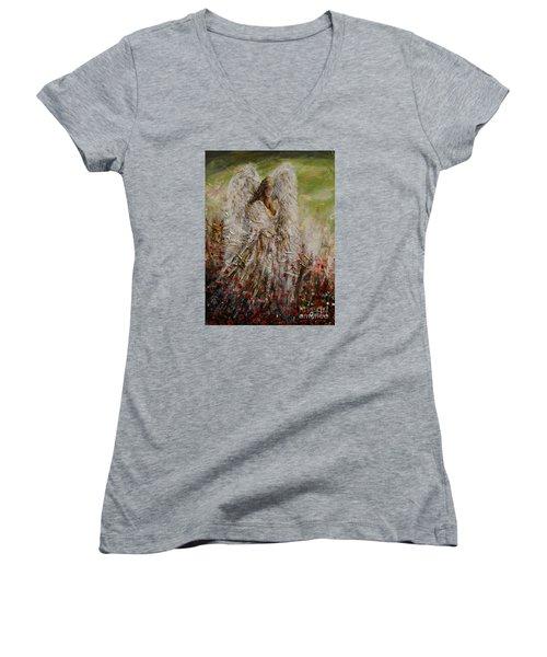 Spring Angel Women's V-Neck T-Shirt