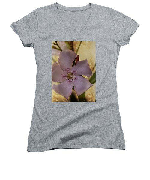 Women's V-Neck T-Shirt (Junior Cut) featuring the photograph Spring by Annette Berglund