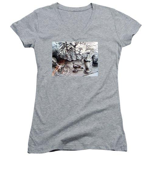 Spring Arrangemnt Women's V-Neck T-Shirt