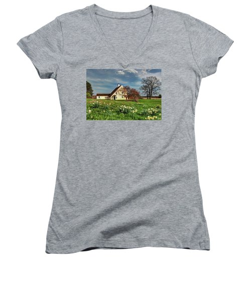 Spring At The Paine House Women's V-Neck (Athletic Fit)
