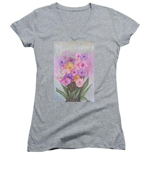 Spring Bouquet  Women's V-Neck