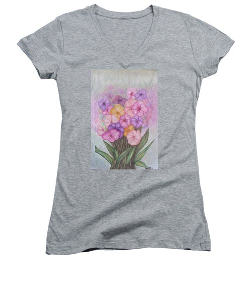 Spring Bouquet  Women's V-Neck (Athletic Fit)
