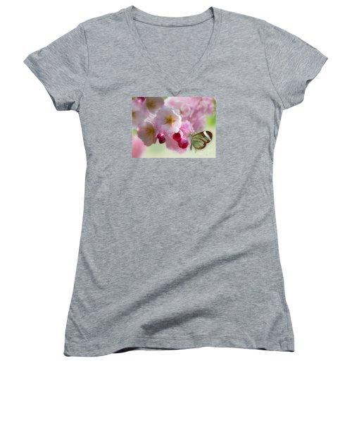Spring Cherry Blossom Women's V-Neck T-Shirt