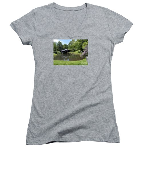 Spring Comes To Mabry Mill Women's V-Neck