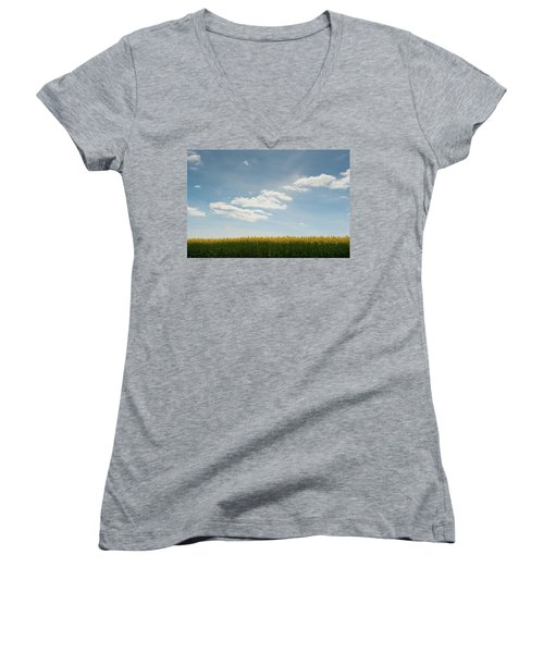 Spring Day Clouds Women's V-Neck