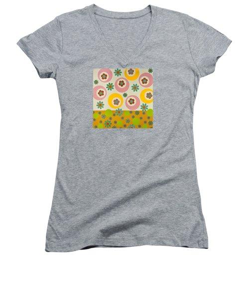 Spring Delight Women's V-Neck T-Shirt
