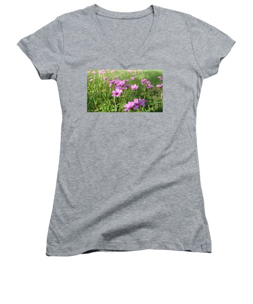 Women's V-Neck featuring the painting Spring Dream by Andrew King
