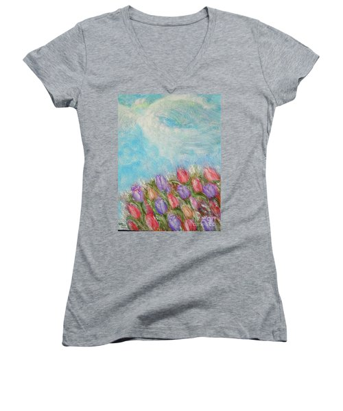 Spring Emerging Women's V-Neck T-Shirt