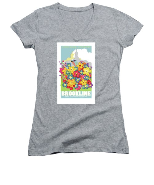 Spring Flowers Women's V-Neck