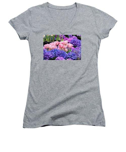 Spring Flowers Women's V-Neck T-Shirt