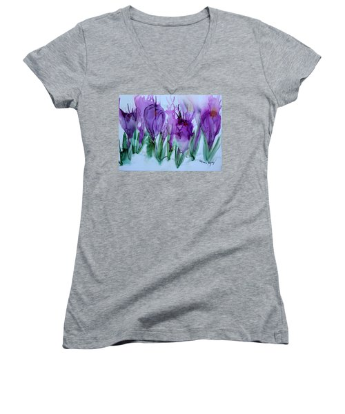 Spring Has Sprung Women's V-Neck (Athletic Fit)