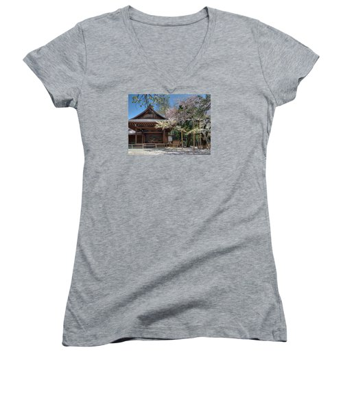 Spring In Edo Women's V-Neck T-Shirt