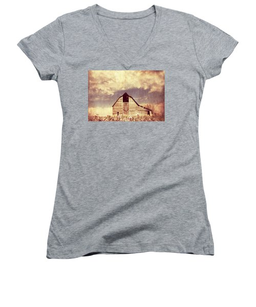 Women's V-Neck T-Shirt (Junior Cut) featuring the photograph Spring In Kansas  by Julie Hamilton