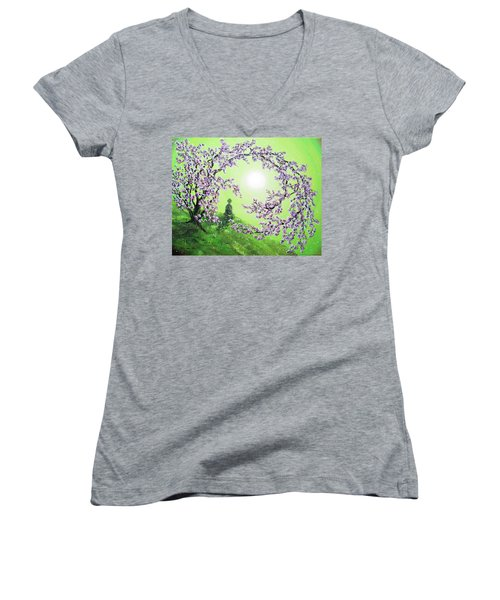 Spring Morning Meditation Women's V-Neck T-Shirt