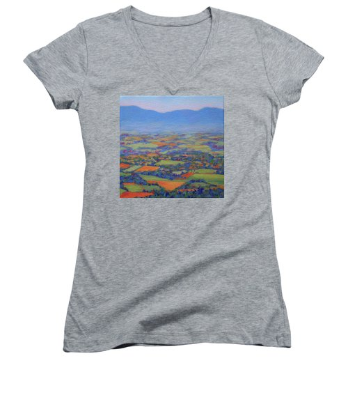 Spring Patchwork 2 Women's V-Neck T-Shirt