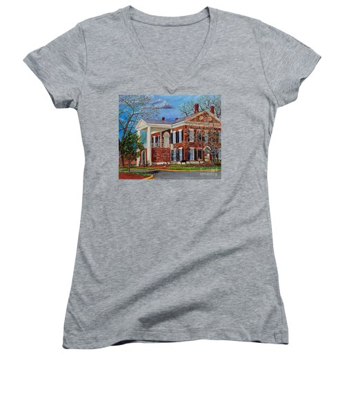 Spring Planting At The Dahlonega Gold Museum Women's V-Neck