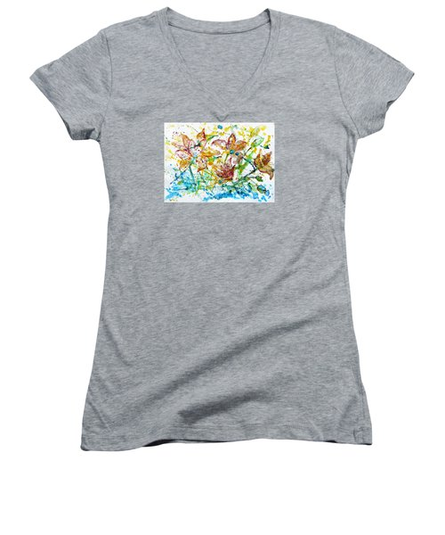 Spring Rhapsody Women's V-Neck T-Shirt