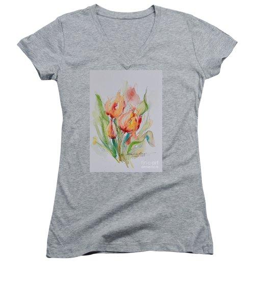 Spring Smiles Women's V-Neck T-Shirt
