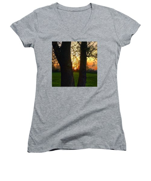 Spring Sunset 2018 Women's V-Neck (Athletic Fit)
