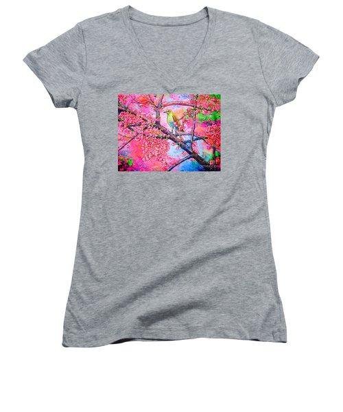 Spring Time Women's V-Neck T-Shirt